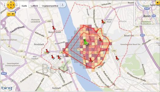 Screenshot Geovista-Standortcheck
