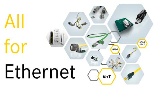 "HARTING is setting new standards for industrial networks under the slogan ""All for Ethernet""."