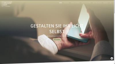 Neue Microsite www.cabeleless-light.com