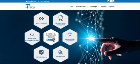 Internetauftritt OrgaTrust GmbH www.orgatrust.de