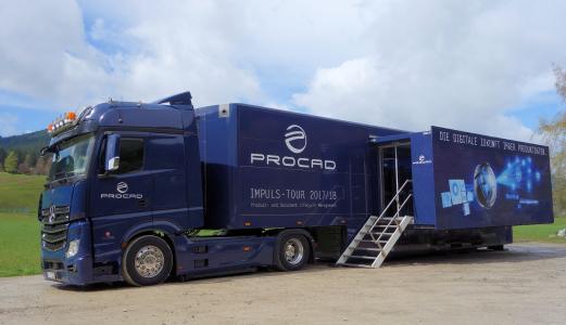 PROCAD Truck bringt Digitalisierung auf die Straße. Abb. PROCAD