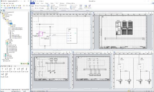 IEC 61850-gerecht bis zur Geräte-Ebene: In EB entstehen die IID Files automatisch - durch einfache grafische Verknüpfung der IEDs mit den Geräten / © AUCOTEC AG