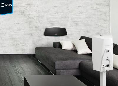 Cavus Denon HEOS Lautsprecher Bodenständer - Living Room Ambience