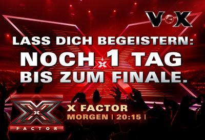 """VOX zeigt """"X Factor""""-Countdown auf digitalen City Light Boards der Wall AG (Copyright """"VOX"""")"""