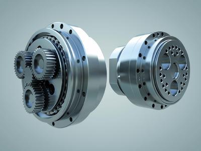 Die Zykloidgetriebe RF-P und RH-N (v. l .) von Nabtesco zeichnen sich durch ihre kompakte Bauformen und hohe Präzision aus