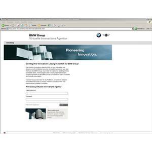 Virtuelle Innovationsagentur (VIA) - deutsch, Anmeldeseite