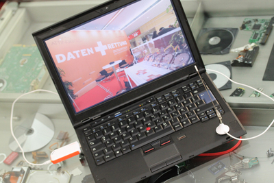 Attingo DVB-T Antenne auf Laptop