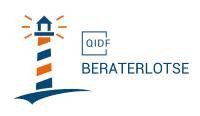 """Logo des """"QIDF-Beraterlotsen"""" für Genossenschaftsbanken"""