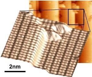 Siliziumoberfläche für die nachfolgende Abscheidung von Verbindungshalbleitern (© TU Ilmenau)