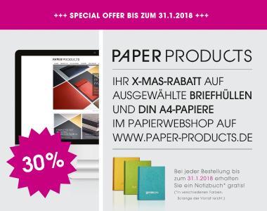 PP X-Mas-Rabatt mit Notizbuch