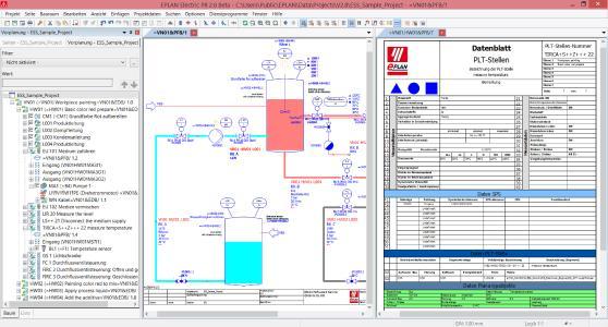 Eplan Preplanning 2.8. Mit zahlreichen Optimierungen in der Version 2.8 lassen sich alle elektrisch relevanten Komponenten und Schemata in Eplan Preplanning erfassen und den nachgelagerten Gewerken ohne Informationsverlust zur Verfügung stellen. (Quelle: Eplan Software & Service GmbH & Co. KG