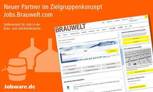 Die Jobbörse Jobware und BRAUWELT® kooperieren