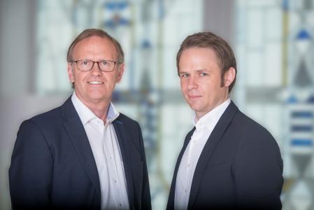 Hubert Haskamp (links) übergibt die TEKU®-Vertriebsleitung an seinen Nachfolger Sven Hoping