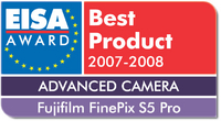 EISA Award für Finepix S5 Pro von Fujifilm: EUROPEAN ADVANCED CAMERA 2007-2008