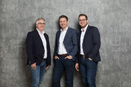 Die Laudert-Geschäftsführung. Von links: Jörg Rewer, Sven Henckel und Holger Berthues
