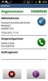 Funkwerk eurotelematik präsentiert neue Android App auf der transport logistic 2013. Bild: Funkwerk