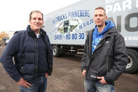 Geschäftsführer Carsten Uhl (l.) und Betriebsleiter Dennis Engelmann (r.) freuen sich über die positive Resonanz beim Tag der offenen Tür.