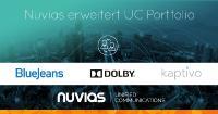 Nuvias unterzeichnet Vertrag mit Dolby, BlueJeans und Kaptivo