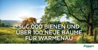 100 Bäume und 500.000 Bienen erhalten eine neues Zuhause.