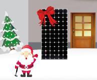 Balkonsolar an Weihnachten