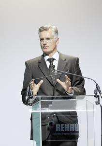 """""""REHAU dominates technology and processes at a world class level""""; Thomas Faustmann, Chairman of the Board of Audi Hungary, praised REHAU as an important partner locally in Györ"""