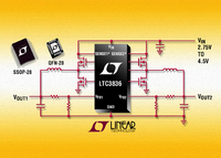 Dual Output 2-Phase, No RSENSETM Synchronous Controller Operates from 2.75V Input
