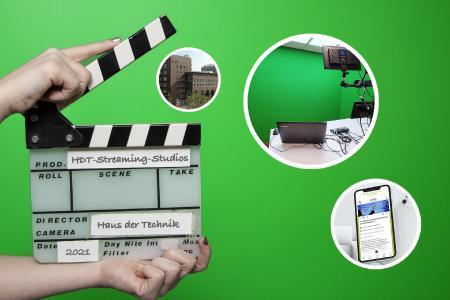 Dank der neuen, hochmodern ausgestatteten HDT-Streaming-Studios sind Vortragende bei den Online-Veranstaltungen von Deutschlands ältestem technischen Weiterbildungsinstitut künftig mitten im Geschehen, statt nur dabei. Auch dem HDT Congress Center kommt die neue Technik zugute.