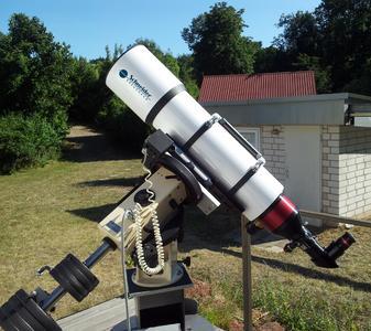 Das von Schneider-Kreuznach gespendete Sonnenteleskop bei der Sternwarte Bad Kreuznach.