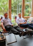 Mit gutem Beispiel voran gingen einige Mitglieder aus den Geschäftsführungen der Remmers Gruppe bzw. einzelner Tochtergesellschaften, wie z.B. Thomas Biermann (links) und Jan-Hendrik Voss / Bildquelle: Remmers, Löningen