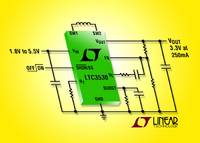 600mA, Synchronous Buck-Boost DC/DC Converter Offers Extended Battery Run-Time for Li-Ion and Dual Cell Alkaline Powered Handhelds