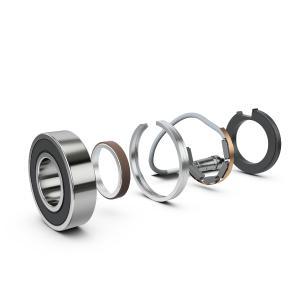 Die Mechatronik-Entwickler von Schaeffler integrierten für diese Aufgabenstellung mehrere Sensorelemente in ein ringförmiges Gehäuse mit nur 7 mm Bauhöhe. Der Bauraum des Sensorclusters entspricht damit in etwa dem eines Radialwellendichtringes. So ergibt sich eine sehr kompakte Einheit (Bild: Schaeffler)