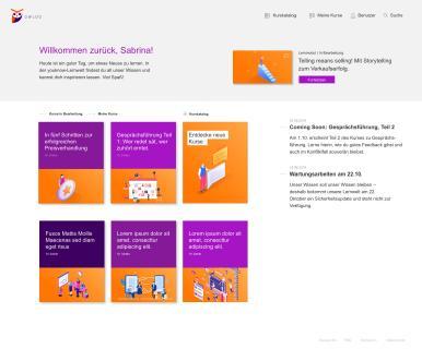 youknow Learning Management System Designbeispiel 2