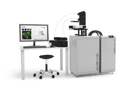 cryoRaman ermöglicht Raman-Mikroskopie bei tiefen Temperaturen (bis zu 1,6K) und in starken Magnetfeldern mit unübertroffener räumlicher Auflösung.