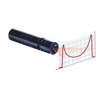Láser de línea con corrección cosenoidal (fall off compensation) para poner más potencia en los extremos de la línea