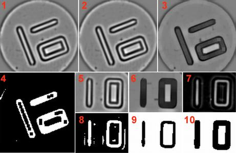 Fig. 1: Algorithm - The images are pre-processed by blob analysis and different morphological, arithmetic and geometric operations and then are fed into String Reader to decode the number