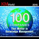 KMWorld100 2015 Badge