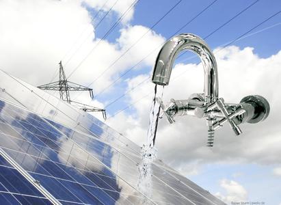 Wasser Solarzelle