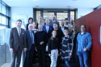 Gehen die Digitalisierung gemeinsam an: die Steuerungsgruppe der E-Government AG, bestehend aus Vertretern der Referenzkommunen, des krz und des IVM², Foto: krz