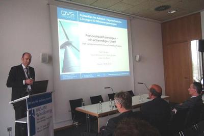 Vier Vorträge hielt der DVS auf der HUSUM WindEnergy, Foto: DVS