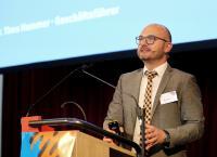 Dr. Timo Hammer, Geschäftsführer der Gütegemeinschaft, während der Jahrestagung 2018, © Gütegemeinschaft sachgemäße Wäschepflege e.V.