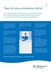 Infografik Tipps für einen erholsamen Schlaf
