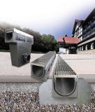 """Die neuen Rinnen und Sinkkästen aus Polymer-Beton des Typs """"Poly-Fortis"""" ergänzen die Produktpalette der Firma Richard Brink in allen gängigen Standardgrößen. Ihre Eigenschaften machen sie zu zuverlässigen und belastbaren Entwässerungslösungen."""