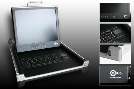 Monitor-Tastatur-Schublade von Fokus Technologies