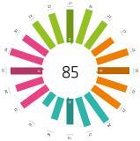 Market Performance Wheel der Bertsch Innovation GmbH von The Group of Analysts im Bereich Media Asset Management mit Gesamtwert 85