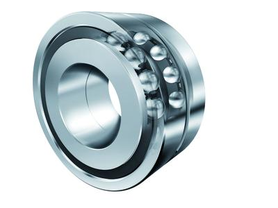 INA axial angular contact ball bearings in X-life quality for screw drives are sealed using lip seals or minimum gap seals on both sides of the bearing as standard (here: ZKLN) (Image: Schaeffler)