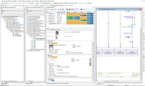 Einfache Einbindung des Syngineers in die Eplan Oberfläche: Schaltpläne und Betriebsmittel lassen sich darüber verknüpfen / Quelle Eplan Software & Service GmbH & Co. KG