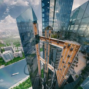 thyssenkrupp makes the future a reality: inauguration of the world's first rope-less horizontal-vertical elevator system, MULTI. (c) thyssenkrupp