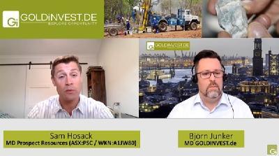 Prospect Resources im GOLDINVEST-Interview; Quelle: GOLDINVEST.de