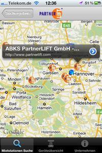 PartnerLIFT bringt eine der ersten iPhone Apps für die Miete von Arbeitsbühnen, Baumaschinen, Kranen und Staplern in Deutschland heraus