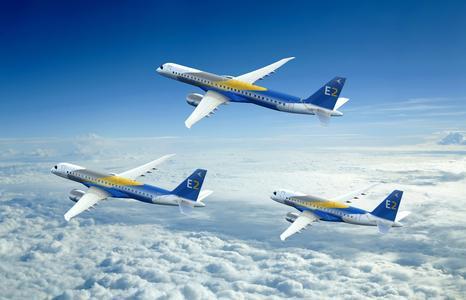 Embraer E2 Jets. Image courtesy of Embraer S.A